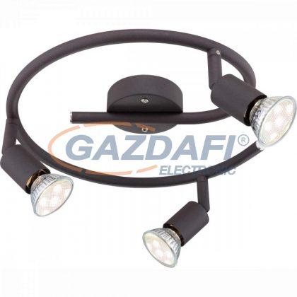 GLOBO 57382-3L OLIWA Mennyezeti lámpa,  LED 3W , 3x GU10 , 3000 K , 3x 250 Lm , rozsda hatású
