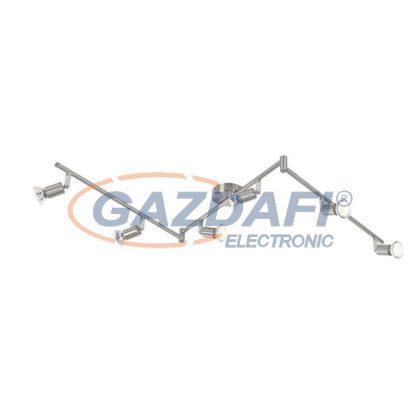 GLOBO 57991-6 Matrix Mennyezeti lámpa , LED 3W  , 6x GU10 , 3000 K , 6x 250 Lm , nikkel matt , króm