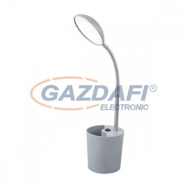 GLOBO 58201G COSMO Asztali lámpa , LED 6W, 4000 K , 350 Lm , műanyag, fém, ezüst