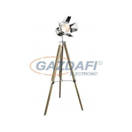 GLOBO 58289 Evy Állólámpa , 25W , E14 , króm, fa, üveg