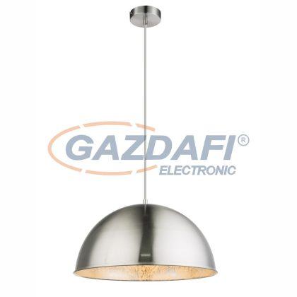 GLOBO 58306H Lenn-Nosy Függeszték lámpa , 60W , E27 , nikkel matt / ezüst , fém /textil kábel