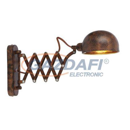 GLOBO 58307W1 Xirena I Fali lámpa , 40W , E14 , rozsda hatás, fém, arany , textil kábel