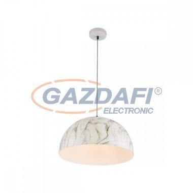 GLOBO 58323HM SANDRA Függeszték , 60W , E27 , fémfehér, fém márványoptika, textilkábel