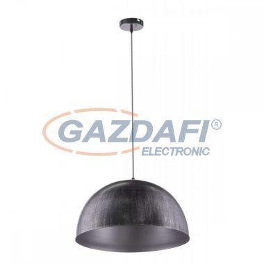 GLOBO 58323HS SANDRA Függeszték , 60W , E27 , fém fekete, ezüst, arany, textil kábel