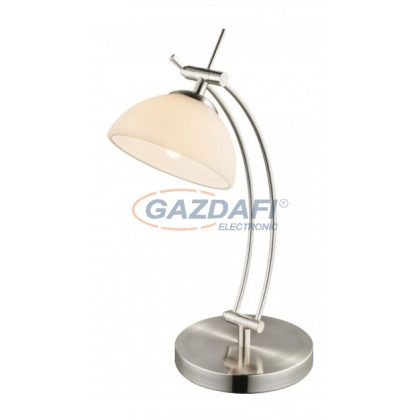 GLOBO 59041T HORSTI Asztali lámpa ,  LED 4W, G9 , 3000 K , 280 Lm , nikkel matt/ üveg