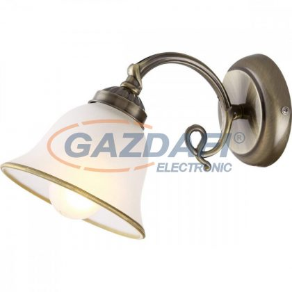 GLOBO 60208W ODIN Fali lámpa , 60W , E27 , antik réz , üveg