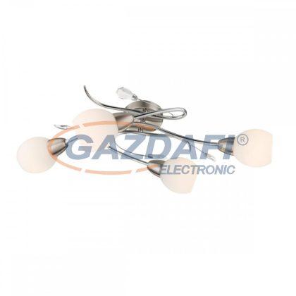 GLOBO 60209-4 Lilly Mennyezeti lámpa , 40W , E14 , króm , nikkel matt , üveg , akril kristályok