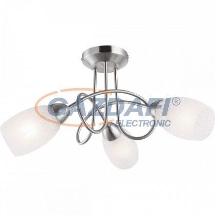 GLOBO 63170-3 MITIS Mennyezeti lámpa , 40W , E14 , nikkel matt , üveg