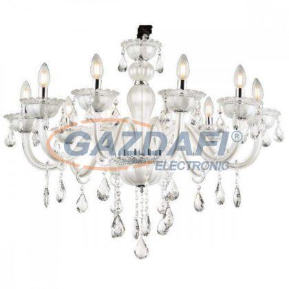 GLOBO 64118-10 Teejay Csillár , 40W , E14 , króm, K5 kristályok , üveg , textil