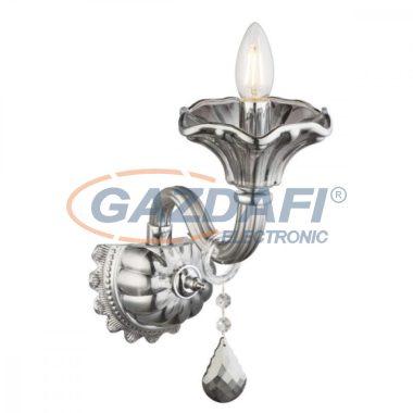GLOBO 64129-1W Olenna Fali lámpa , 40W , E14 , króm , üveg , K5 kristályok