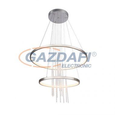GLOBO 67092-50H Titus Beltéri lámpa , 50W ,3000 K , 2000 Lm , K5 kristályok , króm/ nikkel matt