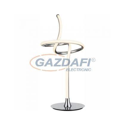 GLOBO 67823T Asztali lámpa króm, akril, LED 15W 24V, 763lm, 3000K, Ø230x530mm