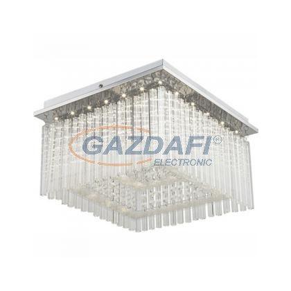 GLOBO 68567-21 Mennyezeti króm, akril, üveg, LED 21W 230V, 1860lm, 4000K, 360x360x230mm