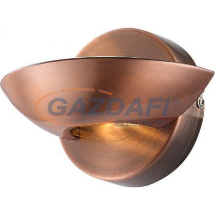 GLOBO 76004 Sammy Fali lámpa ,  4,5W/3W , 3000 K , 360 Lm/100 Lm , réz , üveg