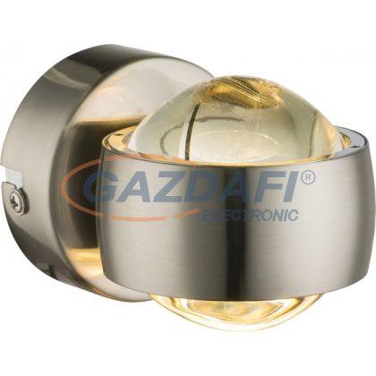 GLOBO 78290 Randi Fali lámpa , 6W , 3000 K , 420 Lm , nikkel matt  , üveg