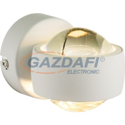 GLOBO78293 Randi Fali lámpa , 6W , 3000 K , 420  Lm , fém fehér , üveg