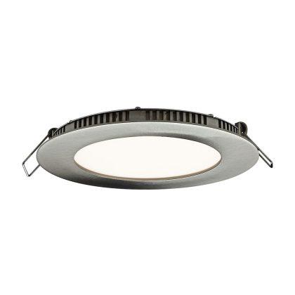 """GREENLUX GXDW106 """"Vega"""" LED mennyezeti lámpa, 12W, 850lm, 3800K, 230V, IP20, ?175mm, matt króm"""