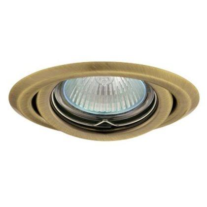 GREENLUX GXPP033 süllyeszett lámpatest, állítható, AXL 2115-BRM, matt sárgaréz
