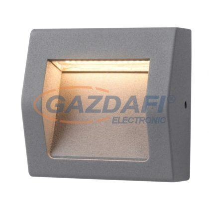 GREENLUX GXPS061 WALL 40 LED lépcsővilágító lámpatest, falon kívüli, 3W, szürke, 4000K, IP54, A++ - A