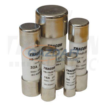 TRACON HB-10X38-4 Hengeres biztosító gG 4A,500V,100kA,10x38