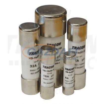 TRACON HB-14X51-4 Hengeres biztosító gG 4A,500V,100kA,14x51