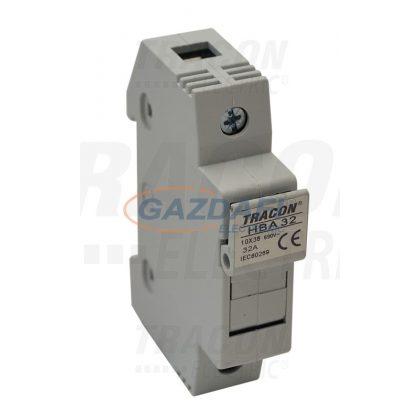 TRACON HBA-1P-32 Szakaszolókapcsoló-biztosító hengeres biztosítóhoz 32A, 10x38mm