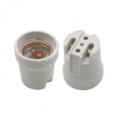KANLUX foglalat, porcelán, E27, szürke, 230V