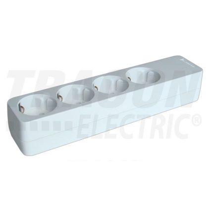 TRACON HUR-04 Újravezetékezhető, hordozható elosztósáv 4×SCHUKO, max.16A, 250VAC