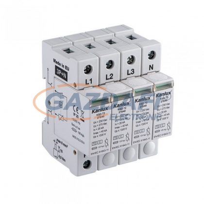KANLUX 23133 KSD-T2 275/160 , IP20 , 160kA , 230V/400V AC, 50/60Hz , 68 x 91 x 72 mm , világosszürke