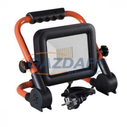 Kanlux 29221   hordozható LED fényvető 220V 50W 4000K 4500lm IP65 fekete  beépített LED A++ -> A