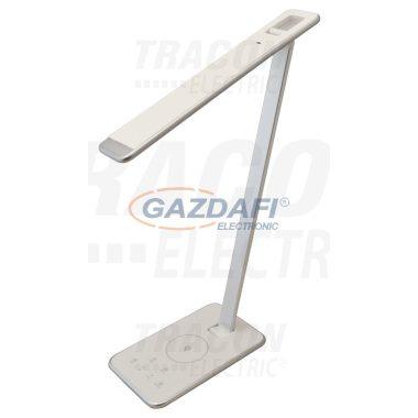 TRACON LALWCH10W LED asztali lámpa,szab. Fényerő,színhőm, vezeték nélk. töltő 100-240 V, 50 Hz, 10 W, 2700-6000 K