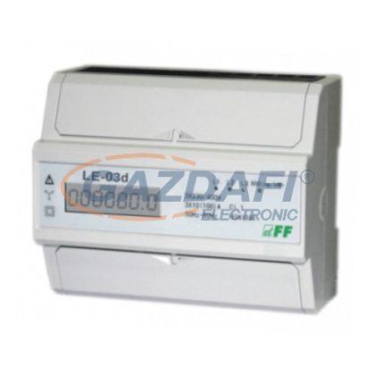 F&F Háromfázisú fogyasztásmérő, LCD, IP20, 3x230V, 400V+N, max. 100A, TS35/7M