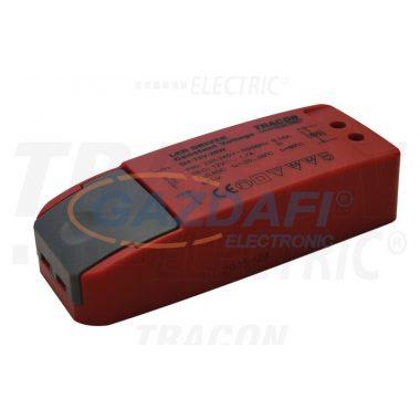 TRACON LED-CV-20W LED meghajtó, állandó feszültségű 200-240 VAC/12VDC; 1,7 A; 20 W; IP20