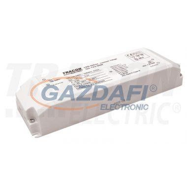 TRACON LED-CV-50W LED meghajtó, állandó feszültségű 100-240 VAC/12VDC; 4,2 A; 50 W; IP20