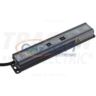 TRACON LED-CV65-150W LED meghajtó, állandó feszültségű 100-240 VAC/12VDC; 12,5 A; 150 W; IP67