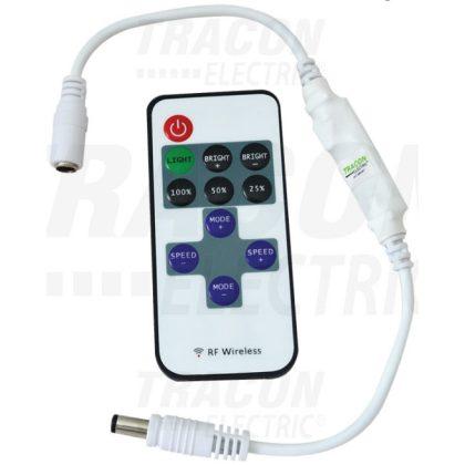 TRACON LED-RF-2 LED vezérlő; mini, távirányítóval 12-24 VDC, 12 A