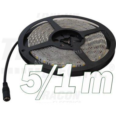 TRACON LED-SZ-144-RGB LED szalag, beltéri SMD5050; 60 LED/m; 14,4 W/m; RGB; W=10 mm; IP20, 5 db/csomag