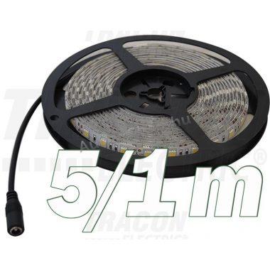 TRACON LED-SZ-48-WW LED szalag, beltéri SMD3528; 60 LED/m; 4,8 W/m; 180 lm/m; W=8 mm; 3000 K; IP20, 5 db/csomag