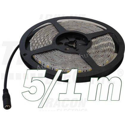 TRACON LED-SZTR-144-CW LED szalag, beltéri, takarítható, ragasztó nélküli SMD5050; 60 LED/m; 14,4 W/m; 640 lm/m; W=10 mm; 6000 K; IP65