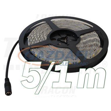 TRACON LED-SZTR-144-WW LED szalag, beltéri, takarítható, ragasztó nélküli SMD5050; 60 LED/m; 14,4 W/m; 640 lm/m; W=10 mm; 3000 K; IP65, 5 db/csomag