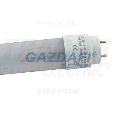 TRACON LED-T8-06-10-WW LED világító cső, tejüveg 230 V, 50 Hz, T8, 600 mm, 10 W, 3000K, 1000 lm