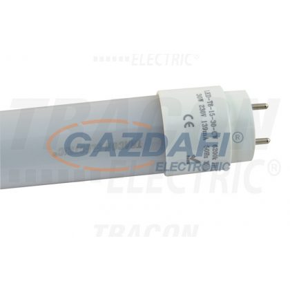 TRACON LED-T8-15-30-WW LED világító cső, tejüveg 230 V, 50 Hz, T8, 1500 mm, 30 W, 3000K, 2900 lm