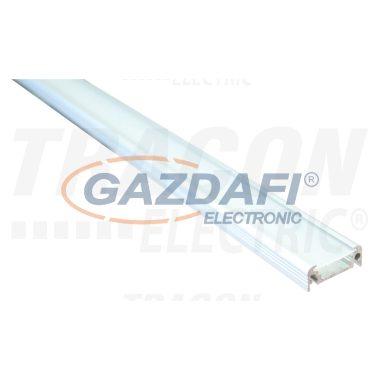 TRACON LEDSZSURFACE Alumínium profil LED szalagokhoz, lapos, felületre W=10 mm
