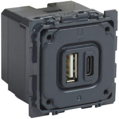 LEGRAND 067465 Céliane kombinált USB A és C töltőaljzat, 2400 mA