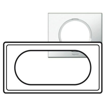 LEGRAND 069125 Céliane 4/5 modulos keret tükör hatású üveg