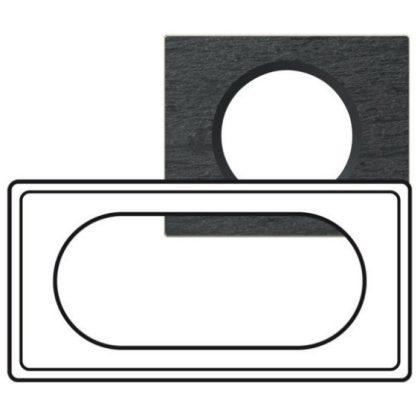 LEGRAND 069375 Céliane 4/5 modulos keret, sötét pala