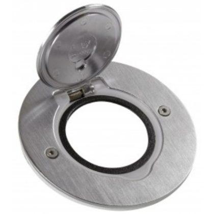 LEGRAND 089701 Mini kerek padlódoboz csatlakozóaljzathoz, rozsdamentes acél