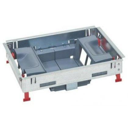 LEGRAND 88025 16 (2x8) modulos, vertikális, állítható magasságú standard padlódoboz, Mosaic-kal szerelvényezhető