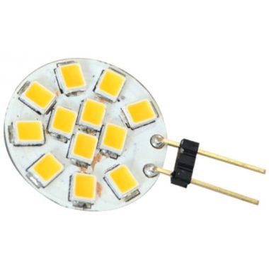 TRACON LG4K2NW LED fényforrás 12 VAC/DC, 2 W, 4000 K, G4, 140 lm, 180°, EEI=A+