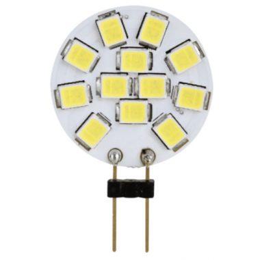 TRACON LG4K2W LED fényforrás 12 VAC/DC, 2 W, 2700 K, G4, 140 lm, 180°, EEI=A+
